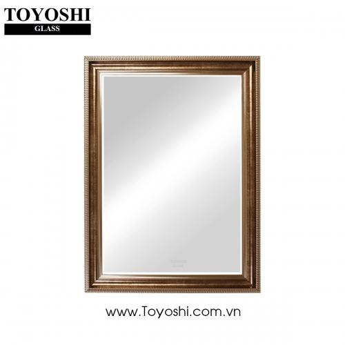 Gương khung gỗ cao cấp TOYOSHI 600mmx800mm